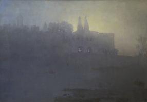 Борис Петрович Захаров. Туман. Восход над Ферапонтово.