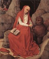 Рогир ван дер Вейден. Святой Иероним и лев
