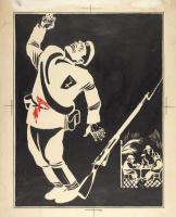 Дмитрий Стахиевич (Орлов) Моор. Оригинал-макет иллюстрации «Незаметные герои войны» 1920-е
