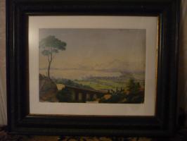 Вид Палермо с горы Сан Пелегрино.  В рамке.