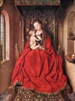 Ян ван Эйк. Мадонна с Младенцем на троне