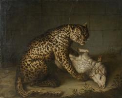Иоган  (Иван Федорович) Фридрих Гроот. Леопард с ягненком