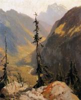 Александр Калам. Горный пейзаж с елями