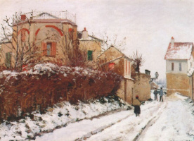 Camille Pissarro. Street near the castle. PONTOISE