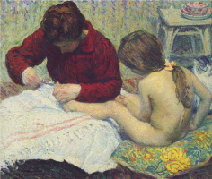 Анри Лебаск. Мадам с дочерью