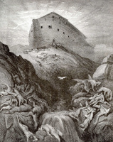 Bible illustrations: Noah releases dove