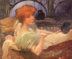 Paul Albert Benar. Portrait of Madame Georges Rodenbach