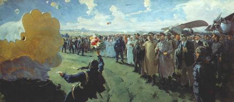 Сварог. Сталин и члены Политбюро на аэродроме Тушино