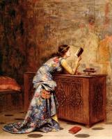 Адольф Александр Лесрель. Молодая девушка с книгой