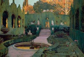 Сантьяго Русиньоль. Вид на сад Монфорте