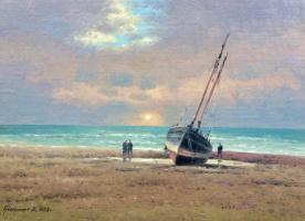 Vasily Ivanovich Gribennikov. Evening. Sea shore