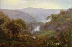 Иоганн Мартин фон Роден. Водопад близ Тиволи
