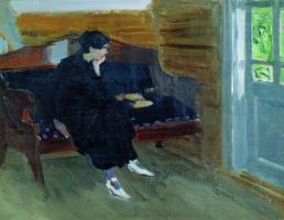 Алексей Степанович Степанов. Женщина на диване