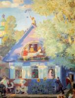 Борис Михайлович Кустодиев. Голубой домик