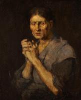 """Михай Либ Мункачи. Портрет женщины. Эскиз для картины """"Женщины, изготовляющие корпию"""""""