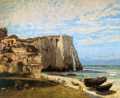 Gustave Courbet. Rock Of Étretat