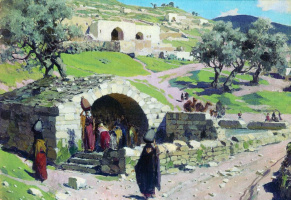 Vasily Dmitrievich Polenov. The source of the virgin Mary in Nazareth