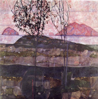 Egon Schiele. The setting sun