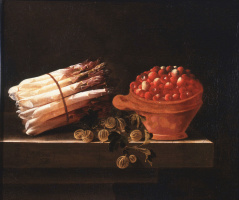 Asparagus, strawberries and gooseberries