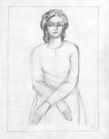 Наталья Сергеевна Гончарова. Спящая (эскиз иллюстрации к поэме М. Цветаевой «Молодец»)