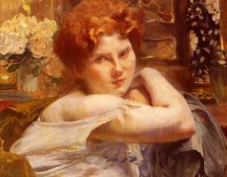 Paul Albert Benar. A woman with red hair