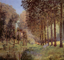 Alfred Sisley. The rest of the stream. Near the forest