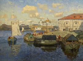 Константин Иванович Горбатов. Старый Новгород. Баржи
