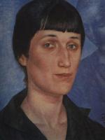 Кузьма Сергеевич Петров-Водкин. Портрет Ахматовой