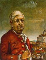 Джорджо де Кирико. Автопортрет с палитрой