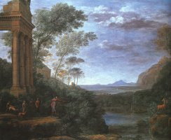Клод Лоррен. Пейзаж с Аскания
