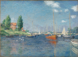 Claude Monet. Red boats, Argenteuil