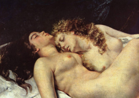 Gustave Courbet. Sleeping. Fragment