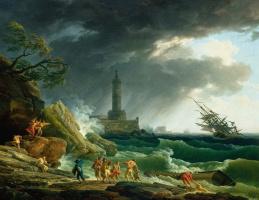 Клод Жозеф Верне. Шторм у средиземноморского берега