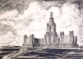 High-rise building on the Lenin hills.