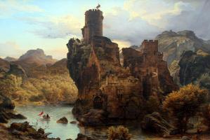 Карлд Фридрих Лессинг. Рыцарский замок