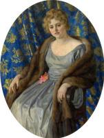 Николай Петрович Богданов-Бельский. Женский портрет