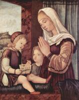 Витторе Карпаччо. Мария и Иоанн Креститель, поклоняющиеся младенцу Христу