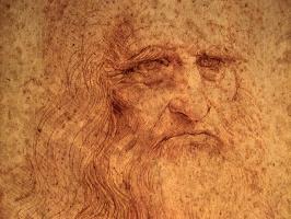 Леонардо да Винчи. Автопортрет (фрагмент)