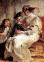 Питер Пауль Рубенс. Елена Фоурмент с детьми Клер-Жанной и Франсуа