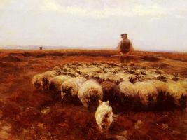 Генрих фон Цюгель. Пастух на лугу