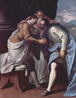 Себастьяно Риччи. Встреча папы Павла III, Франциска I и Карла V. Из цикла: жизнеописание папы Павла III