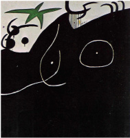 Joan Miro. A woman and a shooting star