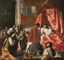 Франсиско де Сурбаран. Предсмертное причастие святого Бонавентуры