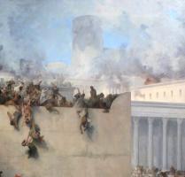 The destruction of the temple of Jerusalem. Fragment