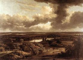 Филипс Конинк. Голландский ландшафт, вид от дюн