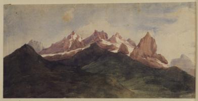 Джордж Фредерик Уоттс. Альпийский пейзаж