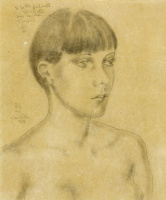 Цугухару Фудзита ( Леонар Фужита ). Female portrait