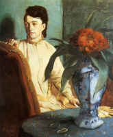 Edgar Degas. Seated woman with a vase