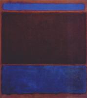 Марк Ротко. № 3 (Ярко-синий, коричневый, темно-синий на винном)