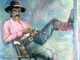 Ли Маккарти. Мужчина в розовой рубашке
